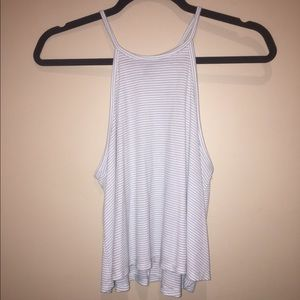Forever 21 stripped razor back crop top